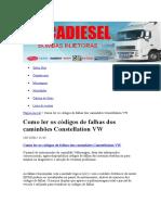 Códigos VW Constellation Eletrônico
