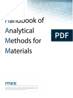 Handbook of analytical methods of analysing materials