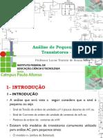 12 - Disp Eletrônico - IfBA - Transistor BJT - AC