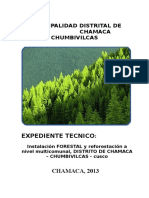 Forestacion Proyecto Chamaca 2013
