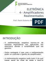 ELETRÔNICA -04 - Amplificadores Realimentados