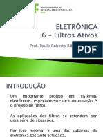 ELETRÔNICA -06 - Filtros Ativos
