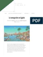 La Navegación en Egipto _ Orientalia
