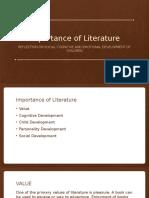importance of literature