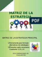 Matriz de Estrategia Principal