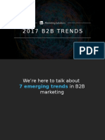 LinkedIn B2B Marketing Trends - released 3.10.17
