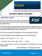 Geometric Means Calculator