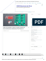 Tablas de Propiedades_ Varillas Corrugadas, Alambres de Acero, Dosificaciones, Rendimientos, Peso Propio, Etc