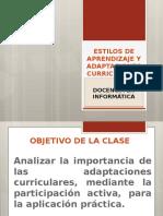 Adaptaciones Curriculares y Estilos de Aprendizaje