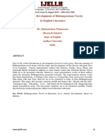 Origin and Development of Bildungsroman Novels in English Literature