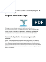Air Pollution From Ships