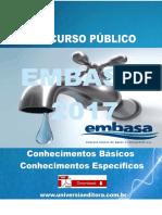 APOSTILA EMBASA 2017 ENGENHARIA CIVIL + VÍDEO AULAS