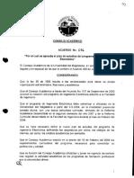 Acuerdo 16 Aprueba El Plan de Estudios Ing. Electrónica