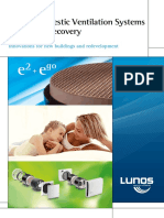 Lunos Domestic Ventilation Systems With Heat Recovery