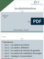 Les Cautions Administratives
