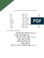 EXERCÍCIOS 1 - Hebraico