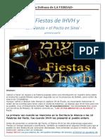 1. Las Fiestas de IHVH y La Alianza en El Sinay Primera Parte