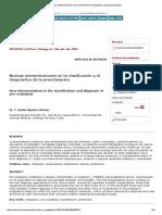 RESUMEN Nuevas Interpretaciones en La Clasificación y El Diagnóstico de La Preeclampsia