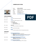 CV/Resume Nikola Horvat