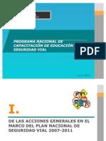 PROGRAMA NACIONAL DE CAPACITACIÓN DE EDUCACIÓN EN SEGURIDAD VIAL