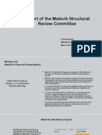 Makivik Structural Review Committee Report — AGM2017