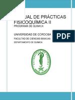 Manual Practicas Fisicoquimica II