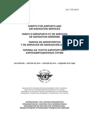 Doc7100 pdf | Aviation | Industries