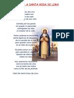 Poesía a Santa Rosa de Lima