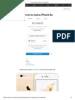 iPhone6s de 32GB Color Oro - Apple (MX)