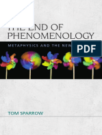 Tom Sparrow – the End of Phenomenology (Prefaces and Introduction)
