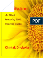 1001 Inspiring Thoughts by Chintak Dholakia
