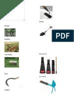 herramientas de agricultura y corte