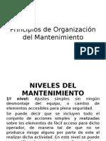 1.2 Principios de Organización Del Mantenimiento