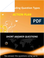 IELTS Reading Question Types - Action Plan