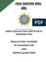 WAEC Handbook for Basic Education Certificate ExaminationBECE