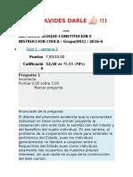Primer Bloque-constitucion e Instruccion Civica s