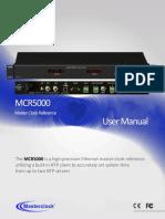 MCR5000+user+manual
