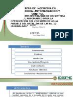 Diseño e Implementación de Un Sistema de Control Automático Para La Optimización Del Consumo de Agua Potable Del Batallón de I.M. Nº. 12 Esmeraldas