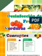 Desinfección de Frutas y Verduras