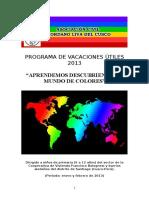 PROGRAMA DE VACACIONES ÚTILES 2013