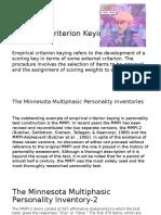 Empirical Criterion Keying