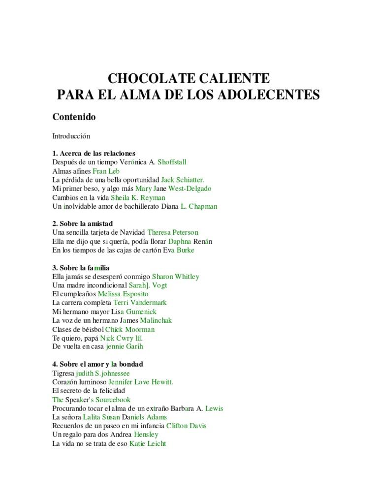 Chocolate-Caliente Para El Alma de Los Adolescentes- J. Candfield ...