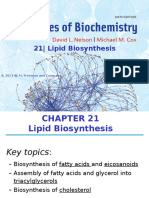 21. Lipid Biosynthesis