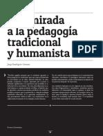 Una Mirada a La Pedagogía Tradicional y Humanista