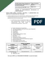 ITC AD IT 02 Anexo 2 Instructivo de Trabajo Del Departamento de Mantenimiento de Equipo de Aire Acondicionado.
