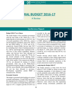Federal Budget 2016-17 - A Review