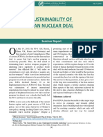Sustainability of Iran Nuclear Deal