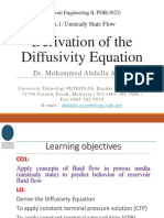 1_Derivation of the Diffusivity Equation
