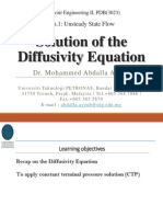 2-Solution of the Diffusivity Equation
