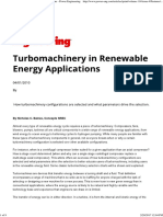 Turbomachinery in Renewable Energy Applications - Power Engineering